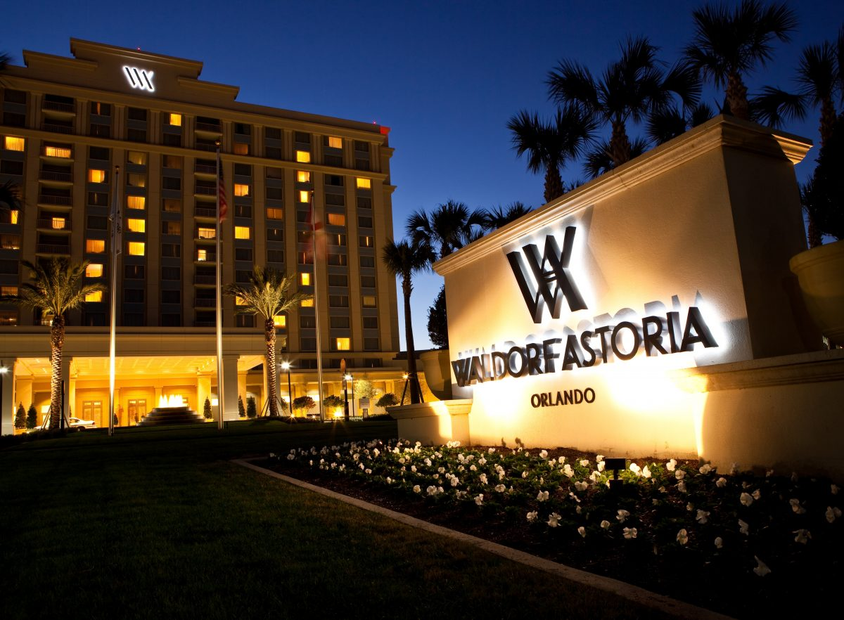 Waldorf Astoria Orlando image at night