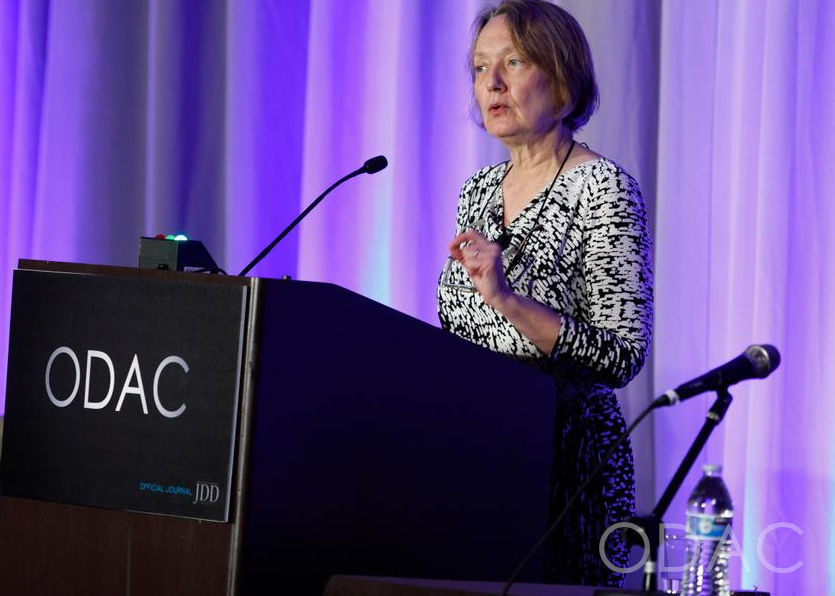 Dr. Jean Bolognia presenting at ODAC Dermatology Conference