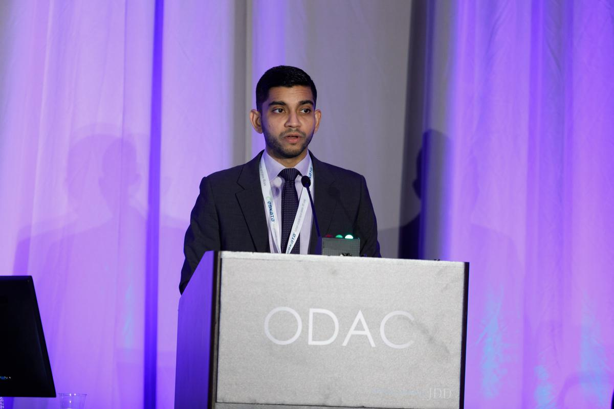 Dr. Patel presenting at ODAC Dermatology Conference