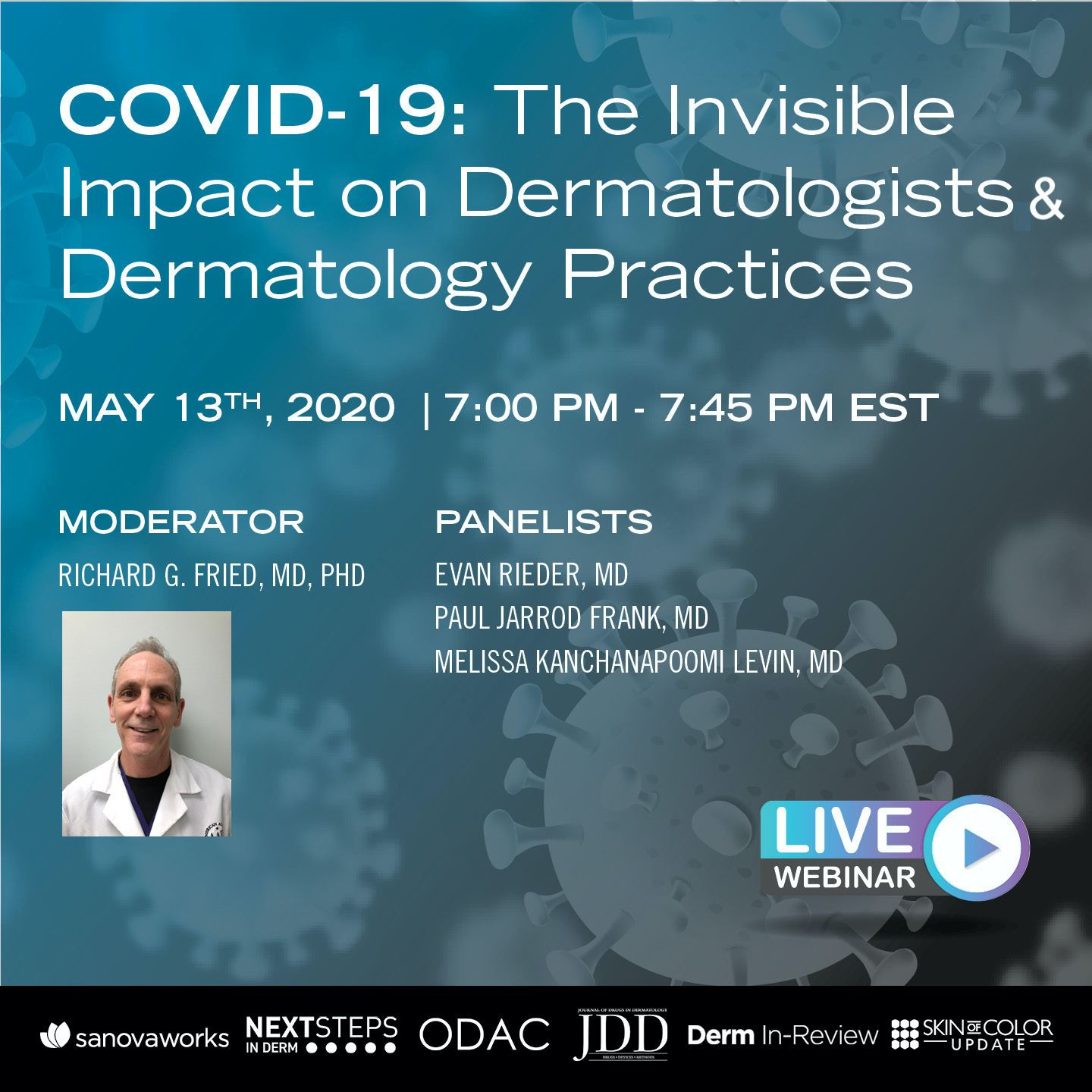 COVID webinar promotion invisible impact